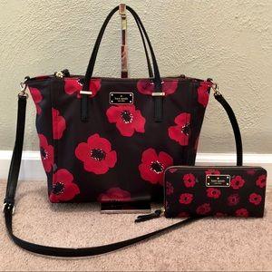 Kate Spade Wilson Road Poppy Purse & Wallet Set